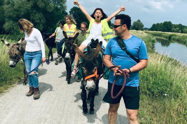 Met de ezel op pad, een ware belevenis voor de ganse familie en vrienden